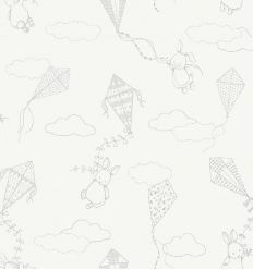 BORASTAPETER up&away wallpaper white