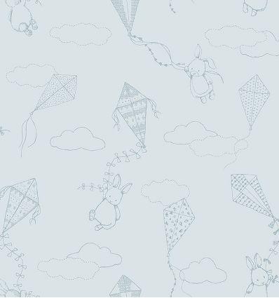 boråstapeter - carta da parati up&away (azzurro polvere)