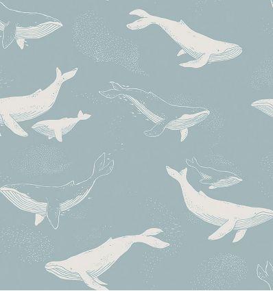 boråstapeter - carta da parati whales