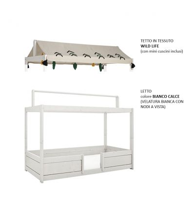 LIFETIME KIDSROOMS 3 in 1 bed with fabric rooftop