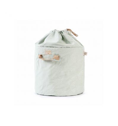 nobodinoz - toy storage baobab large (white bubble/aqua)