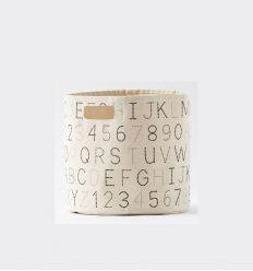 PEHR cesto medio con alfabeto grigio