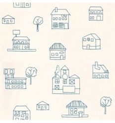 alhambra - wallpaper embroidered houses coolbaby