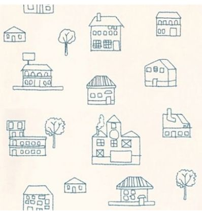 "alhambra - wallpaper embroidered houses ""coolbaby"""