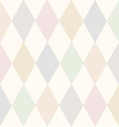 cole & son - carta da parati punchinello (pastel pink)