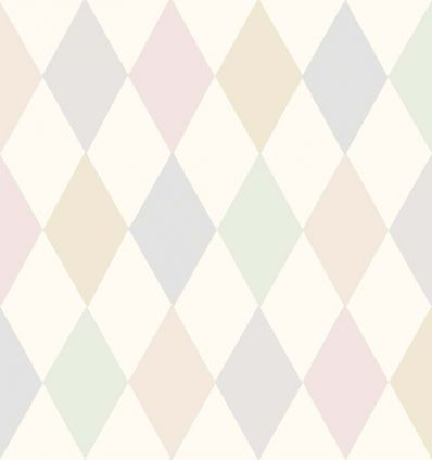 cole & son - wallpaper punchinello (pastel pink)