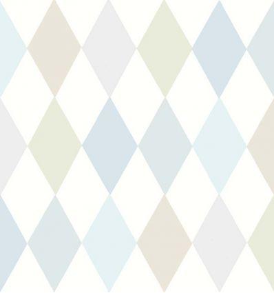 cole & son - carta da parati punchinello (pastel blue)