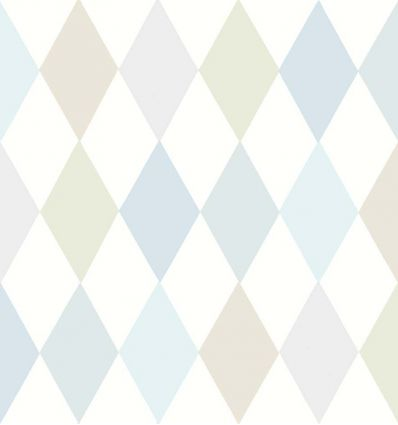 cole & son - wallpaper punchinello (pastel blue)