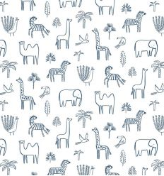 harlequin - carta da parati funky jungle blu navy