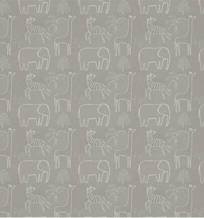 harlequin - tessuto d'arredo funky jungle grigio stone