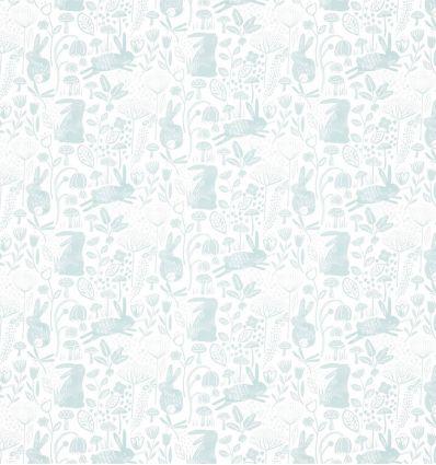 harlequin - carta da parati into the meadow duck egg