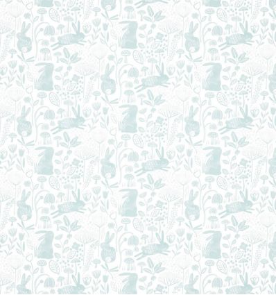 harlequin - wallpaper into the meadow duck egg