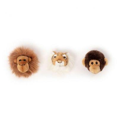 wild & soft - jungle box set di 3 decorazioni da parete (leone/tigre/scimmia)