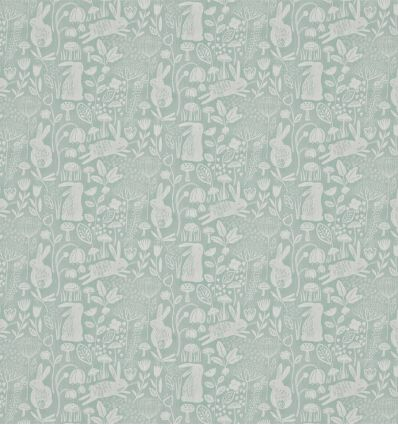 harlequin - fabric into the meadow duck egg