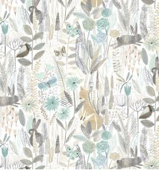 harlequin - wallpaper hide and seek linen/duck egg/stone