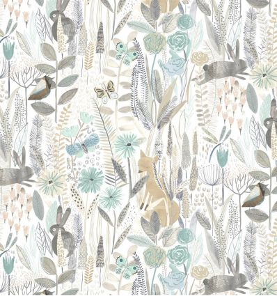 harlequin - wallpaper hide and seek linen/duck egg/stone