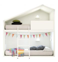 lagrama - cottage bunk bed (white)
