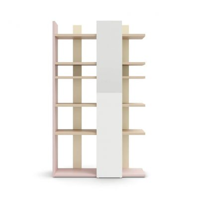 NIDI libreria surfy orizzontale (mirtillo, bianco, mandorlo)
