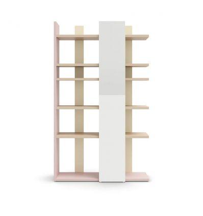 NIDI libreria surfy verticale con specchio (ninfea, mandorla, luna)