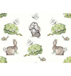 AILANTO DESIGN carta da parati coco's bunnies (vibrant green)