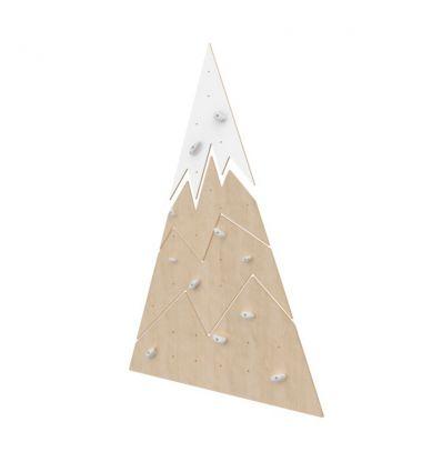 Wooden climbing wall small mountain
