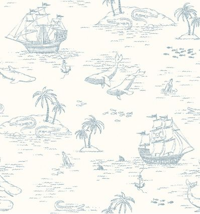 BORASTAPETER treasure island wallpaper