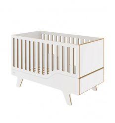 wooden evolutive crib dream (white)