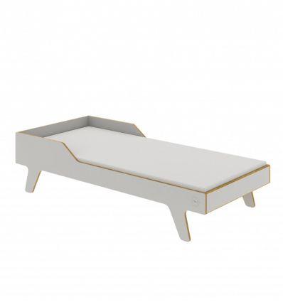 wooden dream big bed (grey)