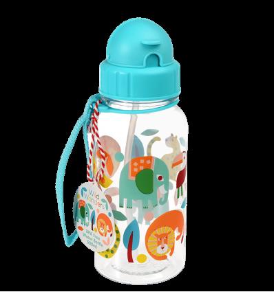 water bottle with straw wild wonders