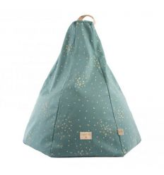 nobodinoz - beanbag marrakech (gold confetti/magic green)