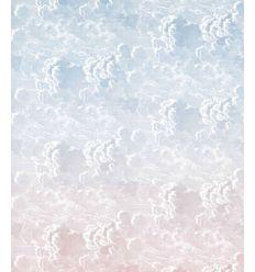 FORNASETTI wallpaper nuvole al tramonto blush