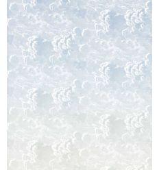 FORNASETTI wallpaper nuvole al tramonto blue