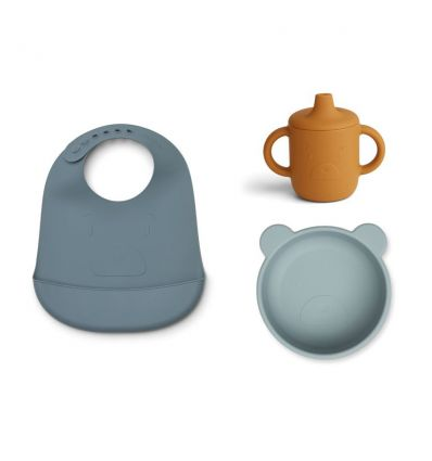 LIEWOOD silicone baby dining set mr bear