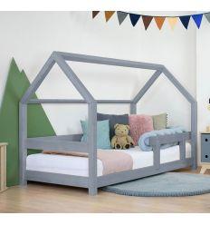 benlemi - letto casa montessori tery (grigio)