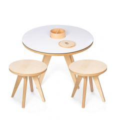 Drawin'table Set tavolino + 2 sgabelli