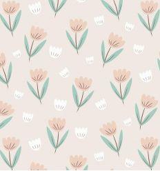 HIBOU HOME carta da parati fleur (summer pink)