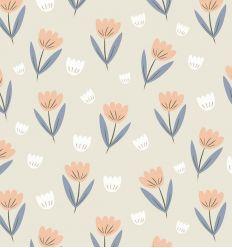 HIBOU HOME wallpaper fleur (peach)