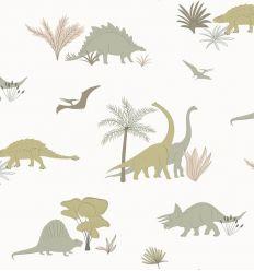 HIBOU HOME carta da parati dinosaurs
