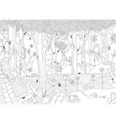 mr perswall - coloring wall mural jungle dudes