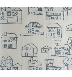 "alhambra - embroidered fabric houses ""coolbaby"""